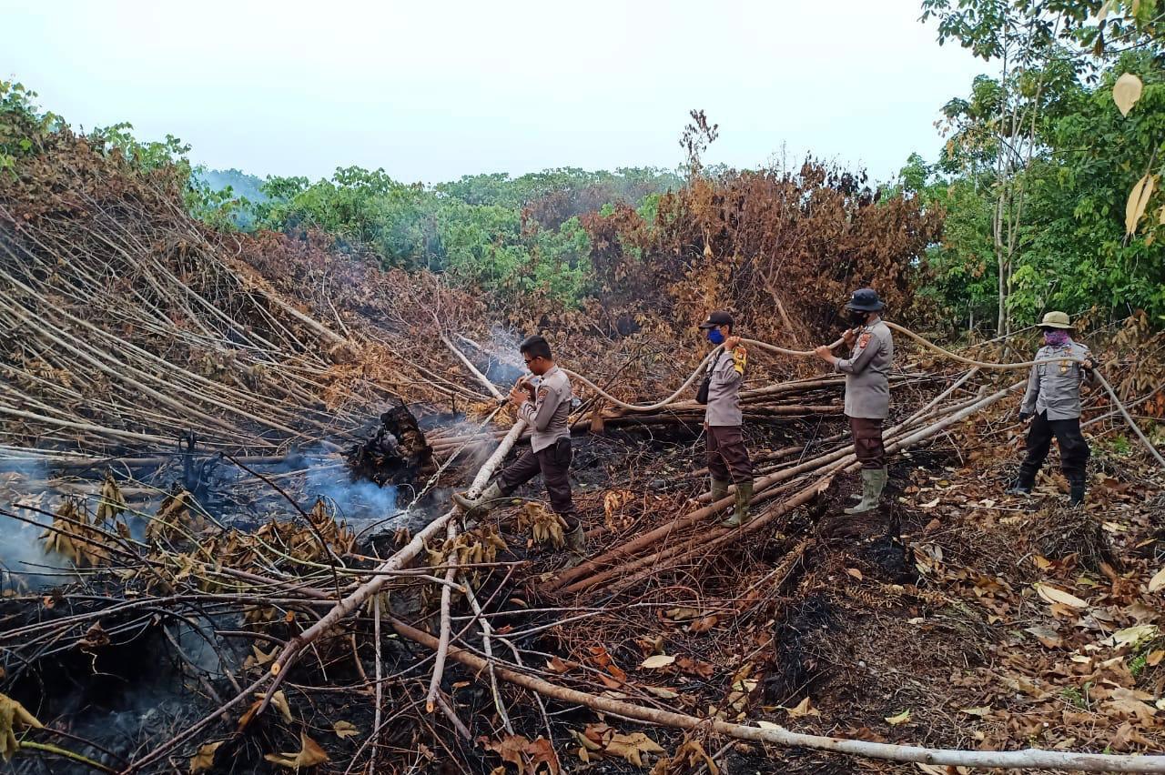 Ditengah Upaya Penanganan Covid-19, Polda Riau Tetap Komit Menangani Karhutla