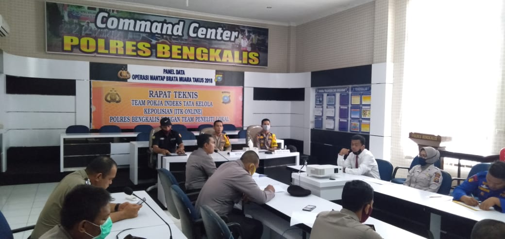 Command Center Rapat Teknis Team Pokja Indeks Tata Kelola Kepolisian ITK-ONLINE