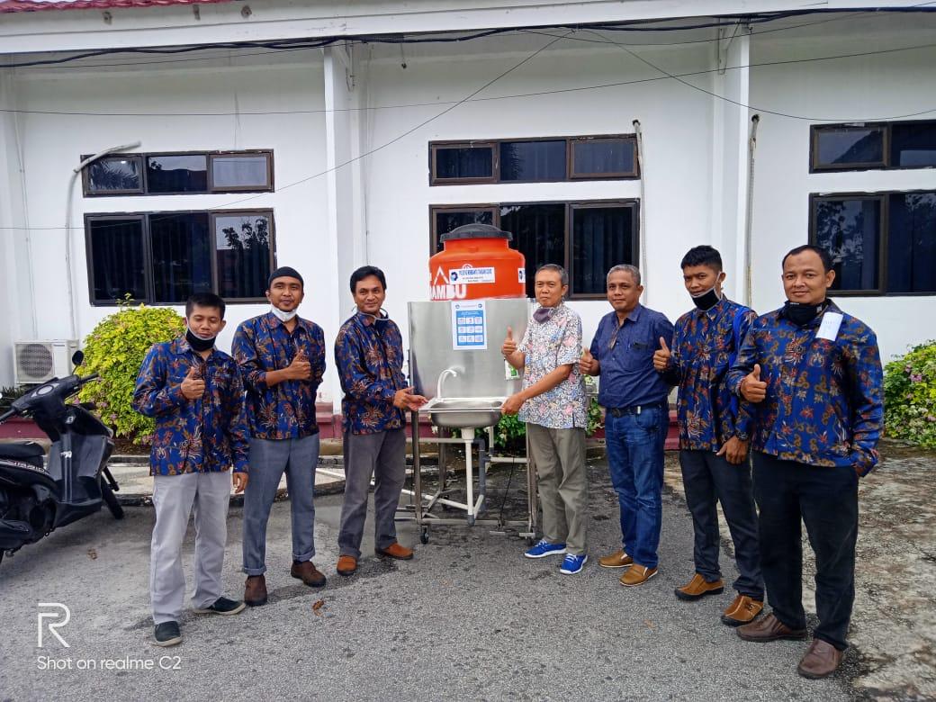 Pusat Penelitian Dan Pengabdian Polbeng Kembangkan Mobil Hand Washing Semi Untuk Pencegahan Wabah Covid – 19