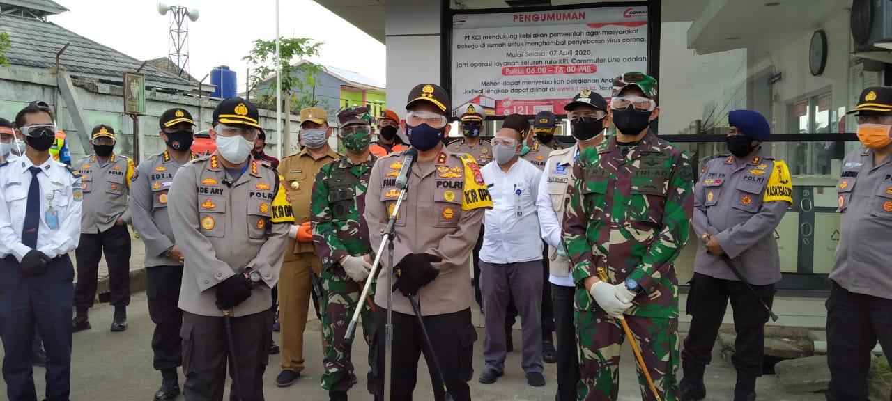 Polda Banten Bersama TNI, Siap Kawal Kebijakan Pemerintah dalam New Normal di 120 Titik Kabupaten Tangerang