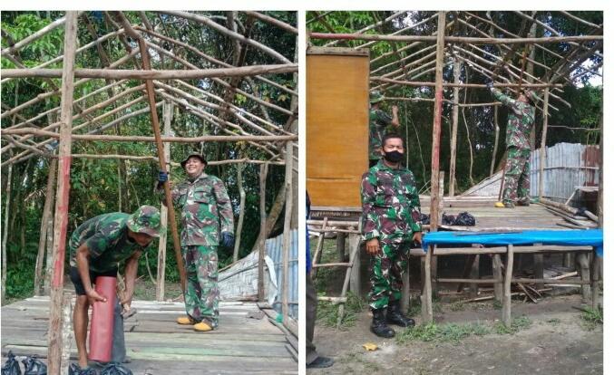 TNI Lakukan Bedah Rumah Warga Afrizal (57), Ini Penjelasan Peltu Dedi Indriadi Batituud Koramil 01/Rumbai