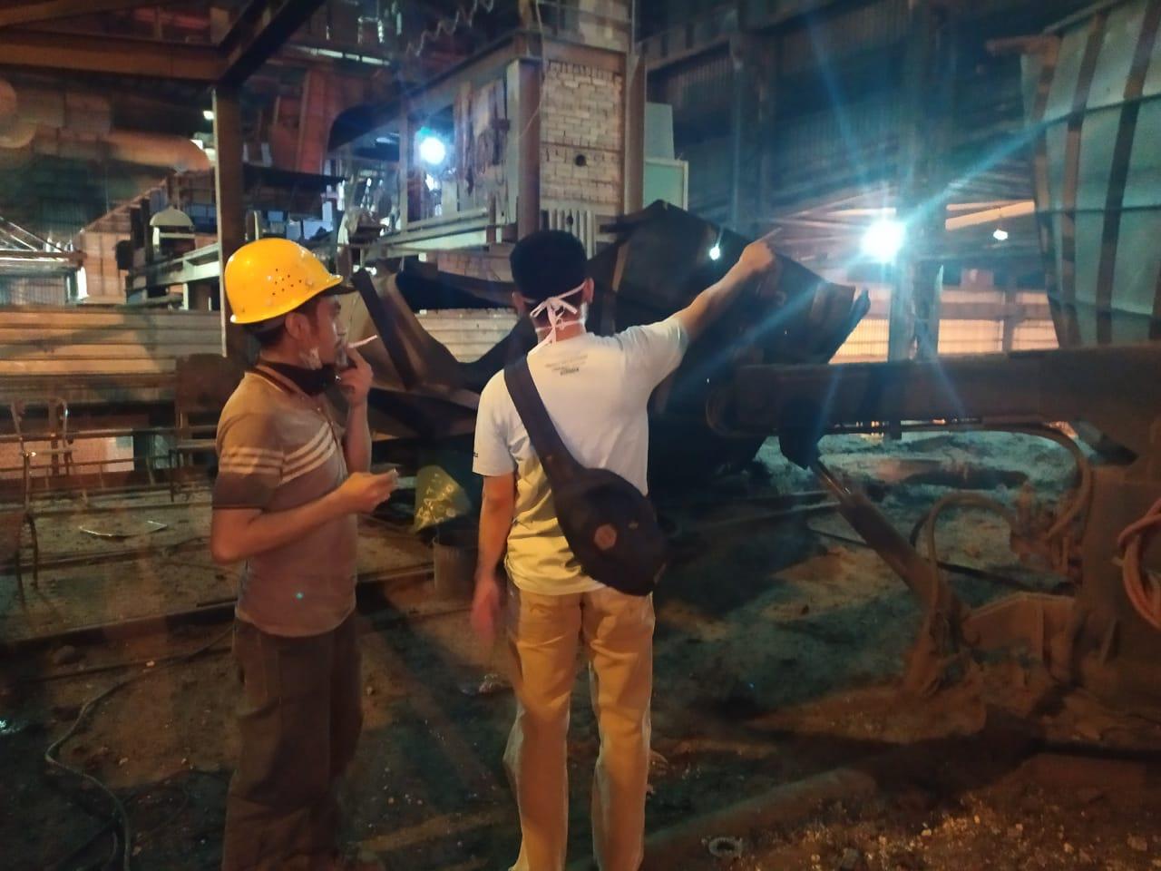 Terjadi Ledakan Tungku Peleburan Besi PT. RPS di Desa Baru Siak Hulu, 4 Karyawan Alami Luka-luka