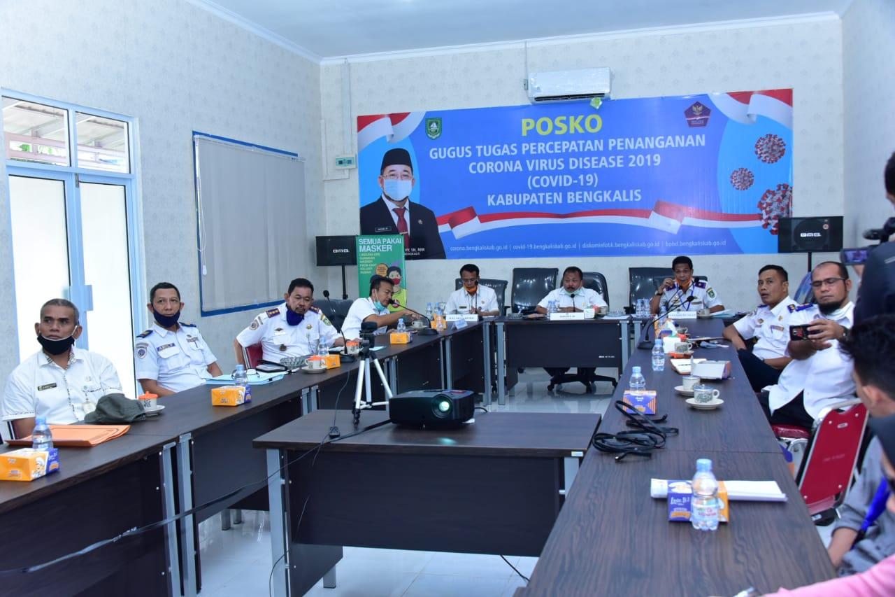 Video Conference Pembahasan Rencana Pengoperasian Pelabuhan Penyeberangan Sei Selari