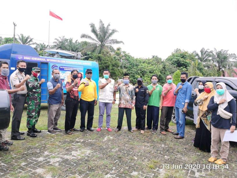 Masyarakat Kecamatan Bangkinang Di Berikan Sosialisasi New Normal