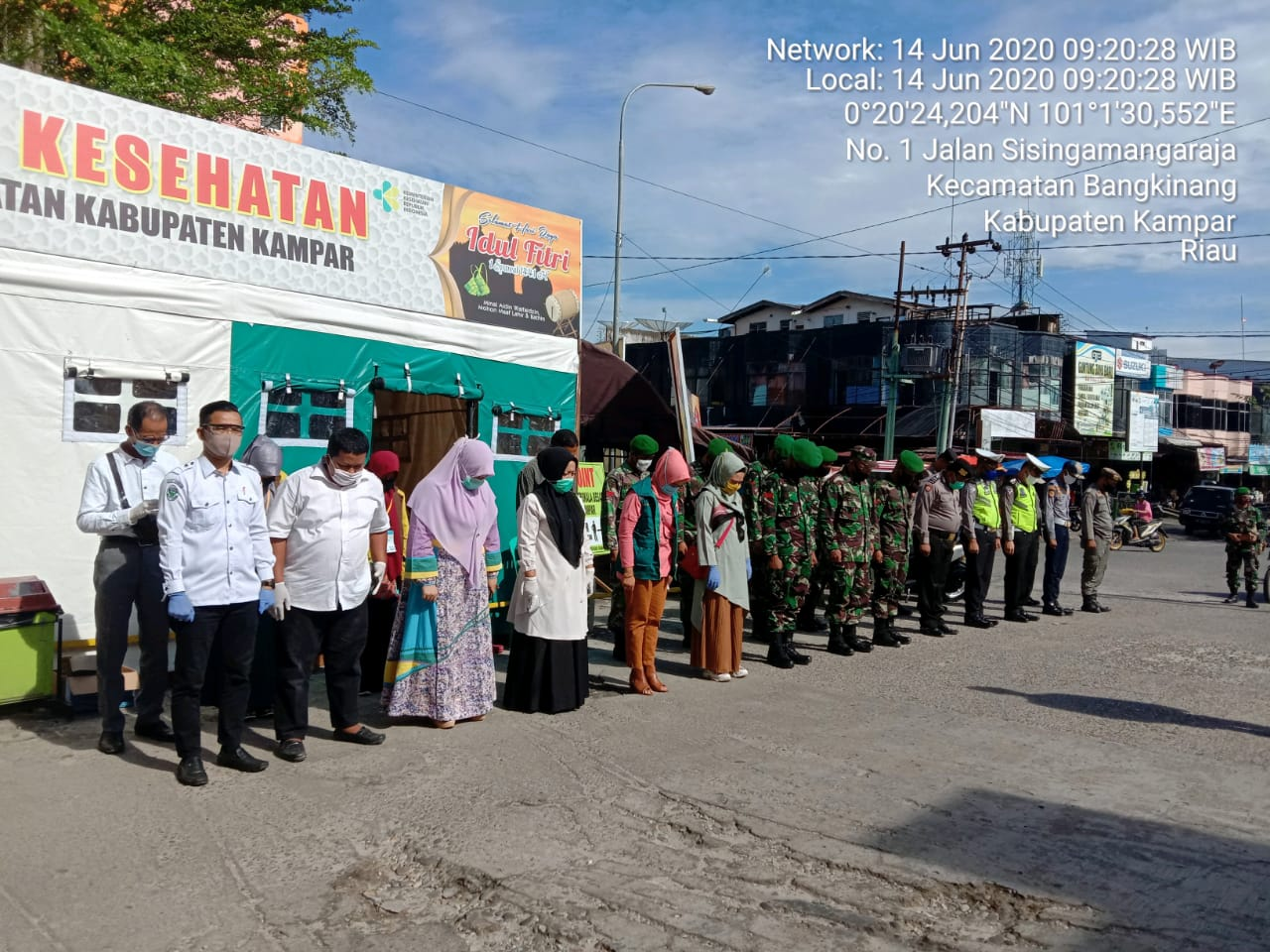 Pelaksanaan Rapid Test Gratis Di Berlakukan Bagi Pengunjung Pasar Ramayana Bangkinang