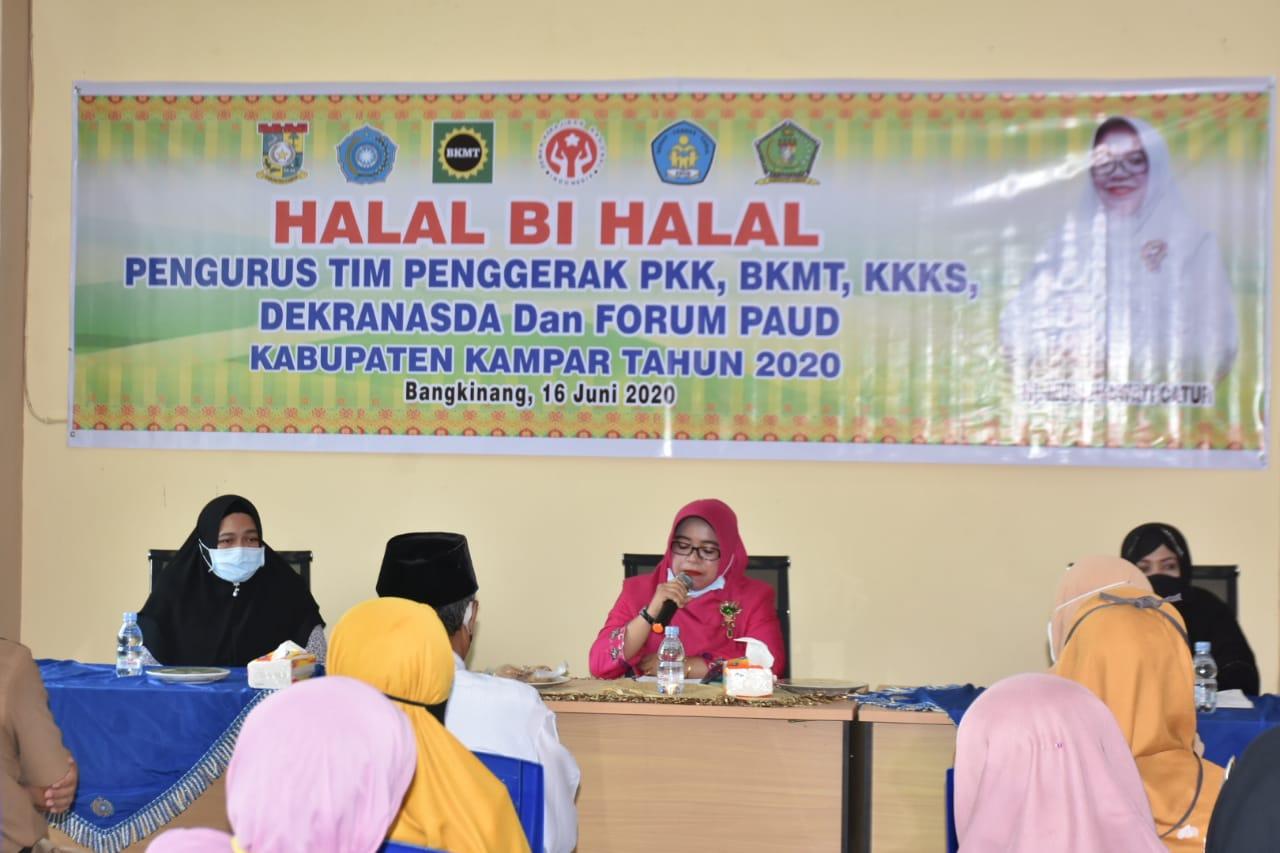 Lima Organisasi Wanita di Kampar Gelar Halal Bihalal