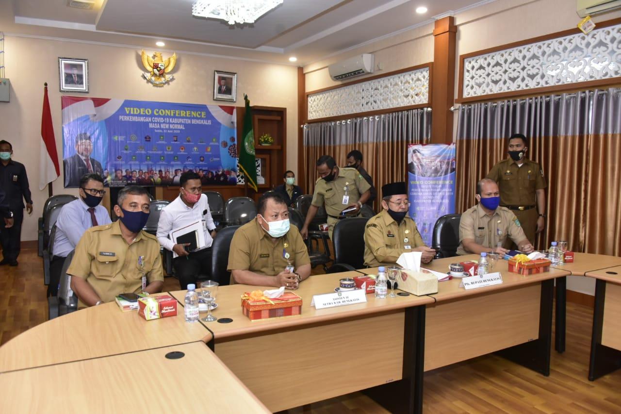 Plh.bupati Bengkalis ikut Rapat Pleno Terkait Pelaksanaan Program TPAKD Pada Pandemi Covid-19