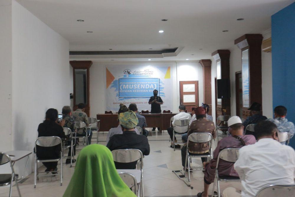 Kadisbud Provinsi Riau Buka Musenda Dewan Kesenian Riau