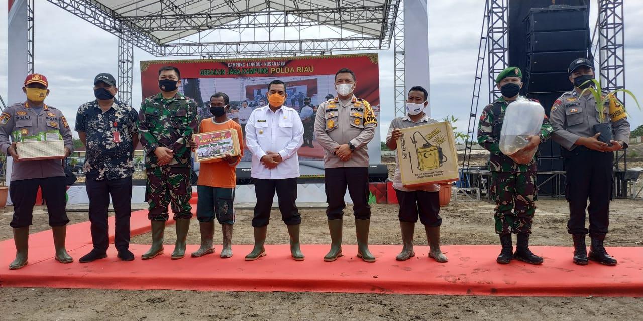 Dukung Ketahanan Pangan,Kapolda Riau Lounching Gerakan Jaga Kampung Program Kampung Tangguh Nusantara