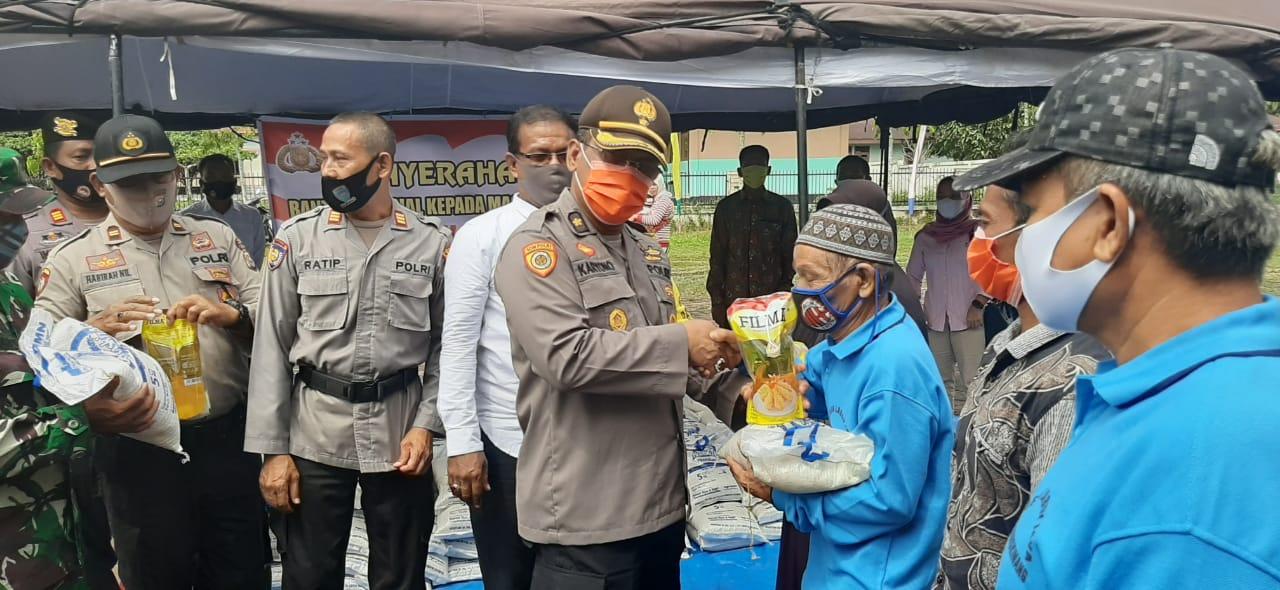 Kabag Sumda Wakili Kapolres Kampar Lounching Gerakan Jaga Kampung di Desa Laboy Jaya