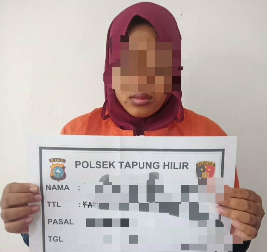 Tipu Korbannya Ratusan Juta Rupiah, Wanita ini Ditangkap Polsek Tapung Hilir