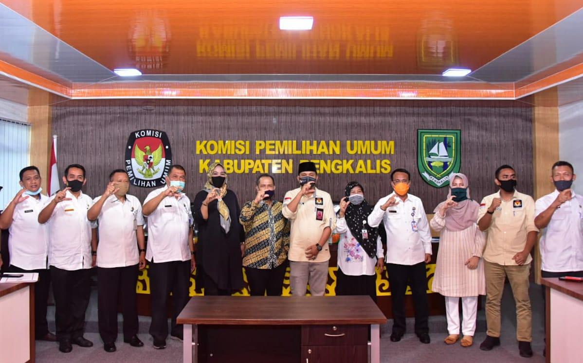 Rakor Pemilihan Bupati dan Wakil Bupati Tahun 2020, di Aula Kantor KPU