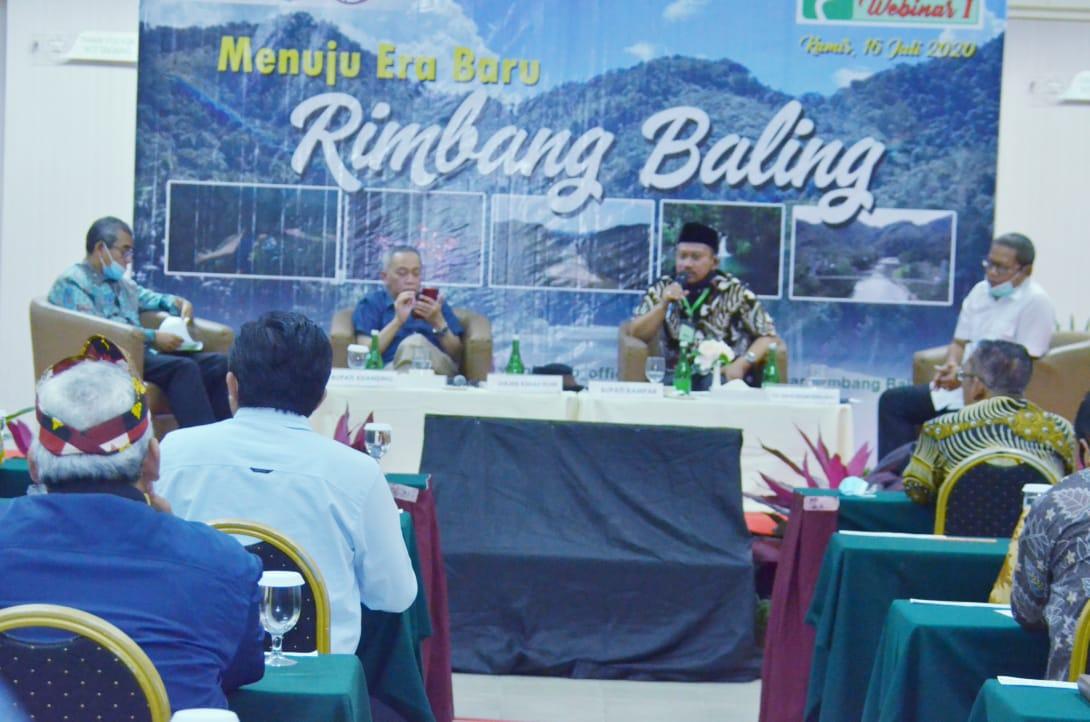 "Bupati :"" Saya Ingin Rimbang Baling Jadi Taman Nasional"""