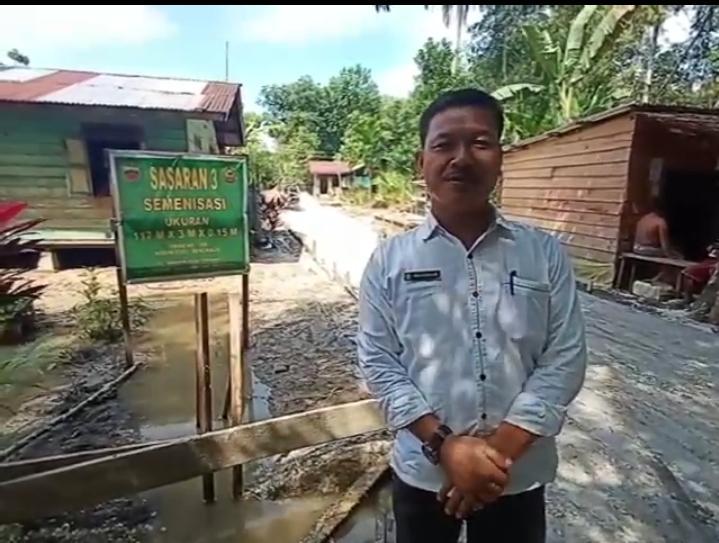 Kades Temiang Berharap Jalan Ibrahim Kedepannya Dilanjutkan TMMD Karena Akses Utama Ke Dermaga