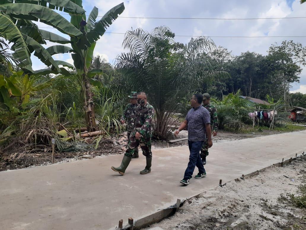 Dandim 0303/Bengkalis Beserta Rombongan Tinjau Pelaksanaan TMMD Ke-108 Cek Sasaran di Ke Tiga Desa