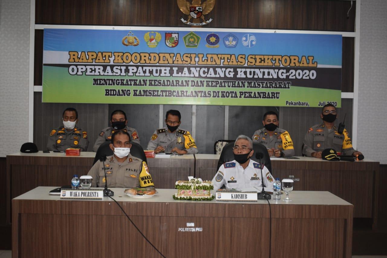 Jelang Operasi Patuh,Polresta Pekanbaru Gelar Rapat Koordinasi Lintas Sektoral
