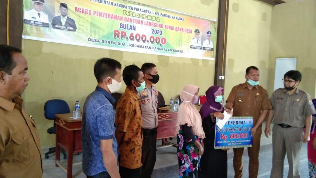 Pemerintah Desa Sorek Dua Salurkan Bantuan Langsung Tunai Dana Desa