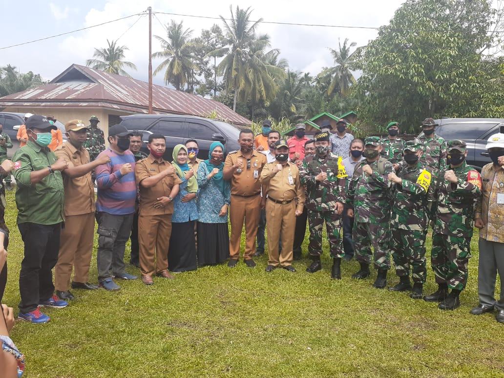 Gunakan Helikopter, Kunker Ketua Wasev Pantau Kegiatan TMMD Kodim 0303/ Bengkalis