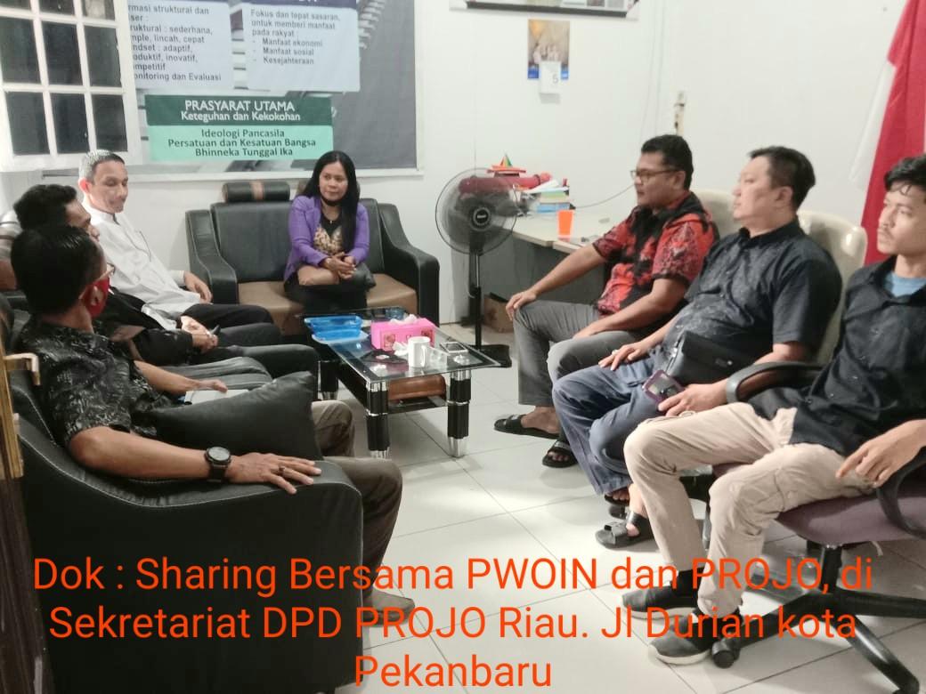PWOIN dan PROJO Riau, Bersama Membangun Negeri Lancang Kuning Menjadi Lebih Baik