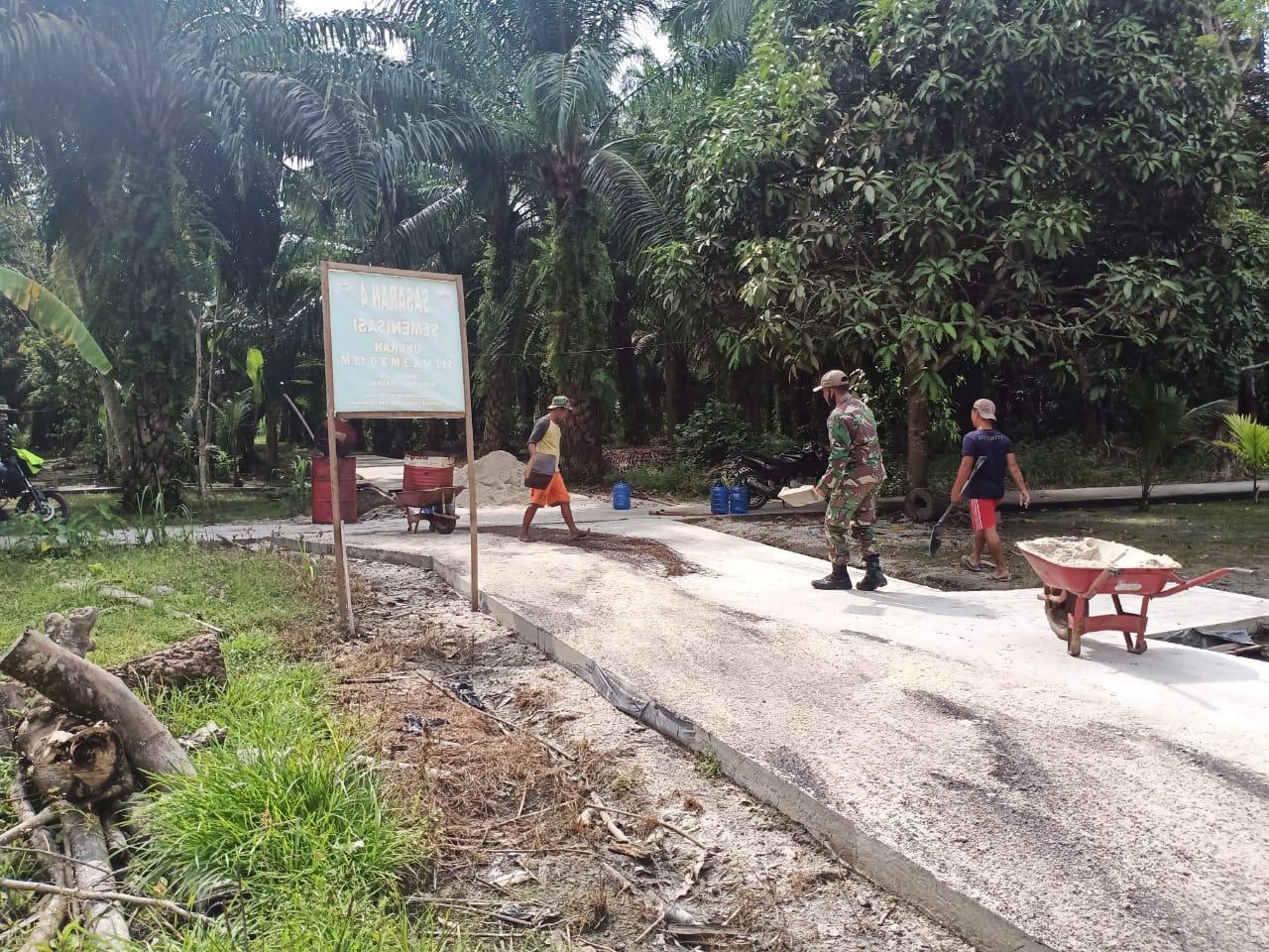 Kepala Desa Temiang Masdar : Ucap Terimakasih Yang Sebesar Besarnya Kepada TNI Kodim 0303/Bengkalis
