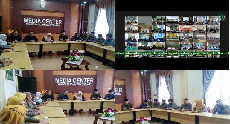 PA Selatpanjang Gelar 'Nonton Bareng' Live Streaming Peresmian Ruang PTSP Dan Virtual Meeting