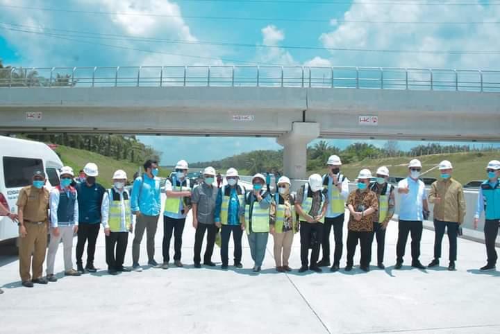 Bupati Dampingi Komisi VI DPR-RI Tinjau Pembangunan Infrastruktur Tol