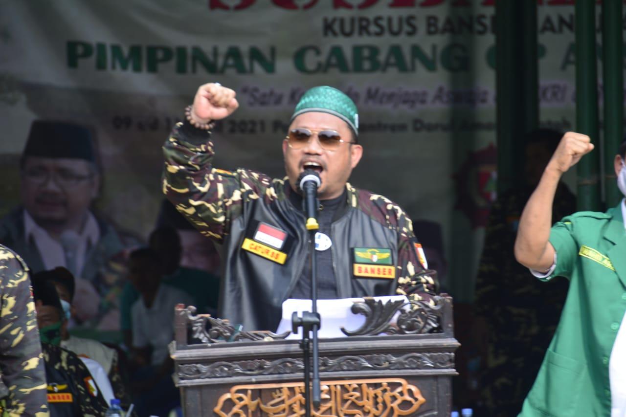 Bupati Kampar Resmi Tutup Susbalan Barisan Ansor Se-Riau