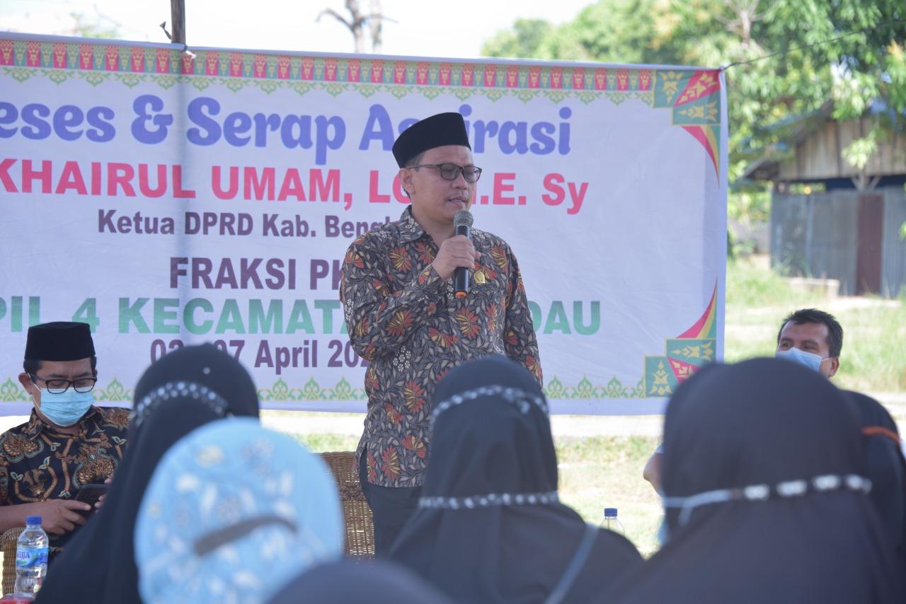 Khairul Umam adakan Reses Di duri Tampung dan Perjuangkan Aspirasi Rakyat