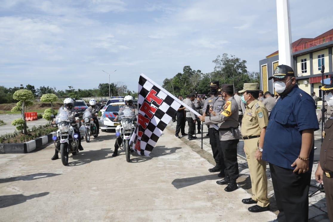 Amankan PSU, Polres Rohul Kerahkan 612 Personel Ke – 25 TPS di Tambusai Utara
