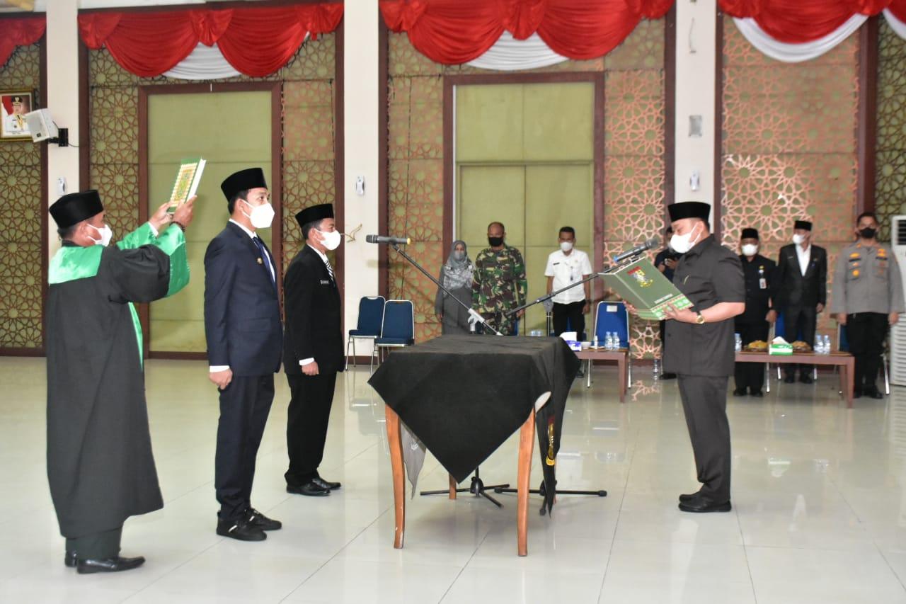 Bupati Kampar resmi Lantik Yuricho Efril Sebagai Kadis Kominfo dan Zulfahmi Sebagai Kadis Perikanan Kampar